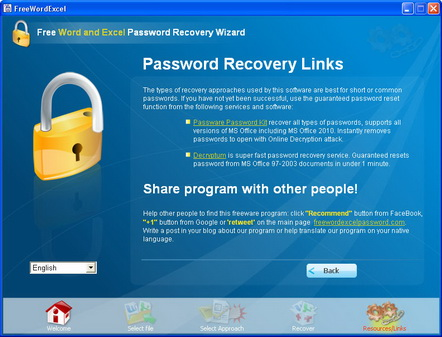 Password recovery software and services.