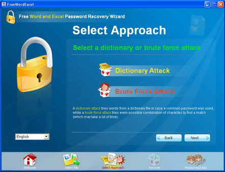 Select bruteforce attack or dictionary attack.